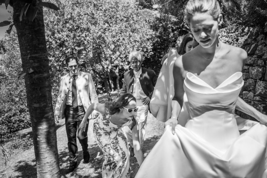outdoor wedding photographer in santa maria ligure genoa