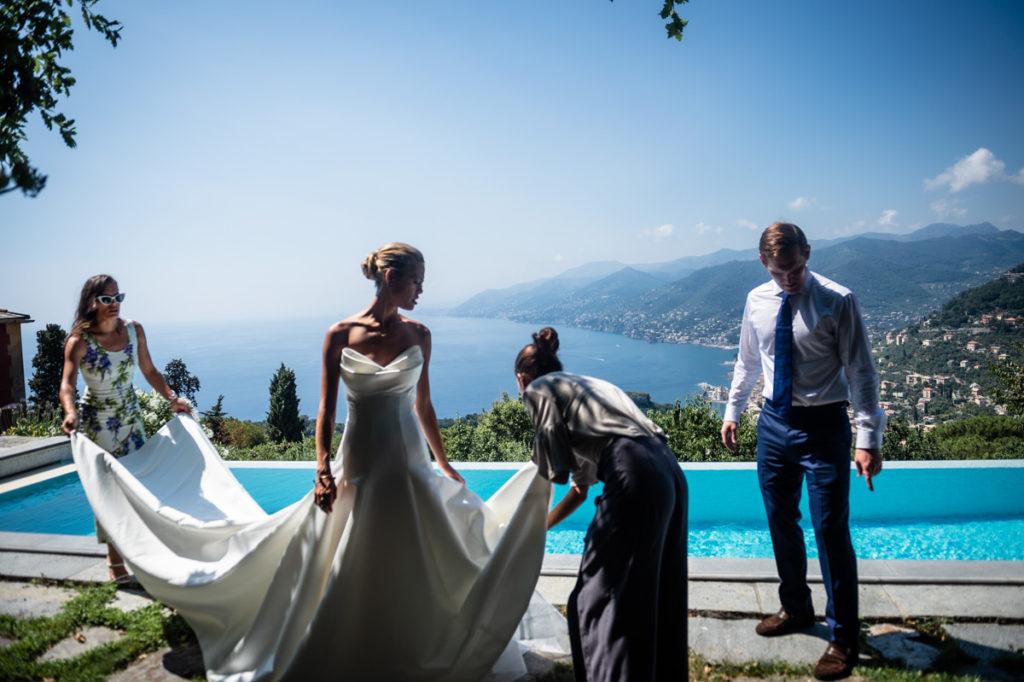 luxury wedding photographer in santa maria ligure genoa