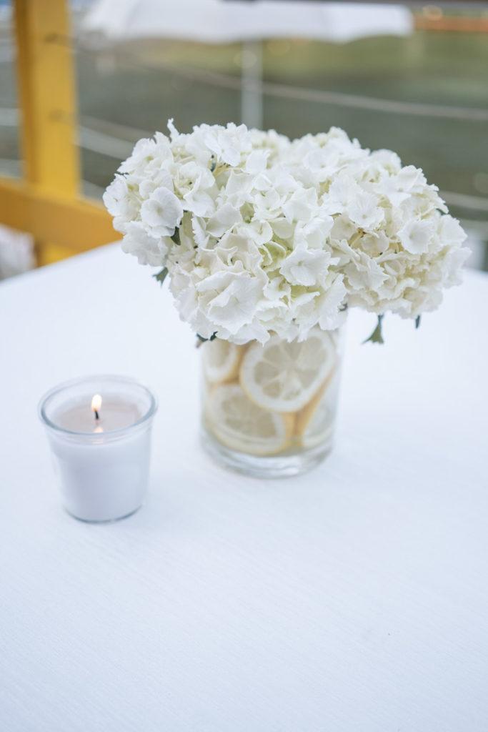 centrotavola elegante ristorante matrimonio portofino