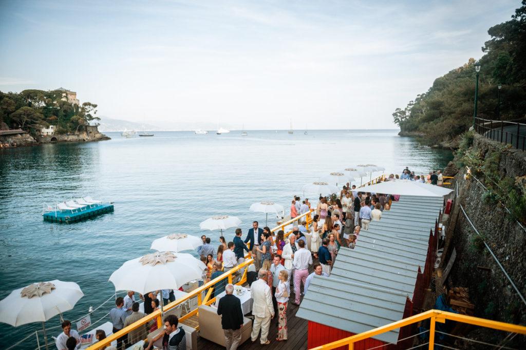 aperitivo dall'alto ristorante matrimonio Portofino ricevimento