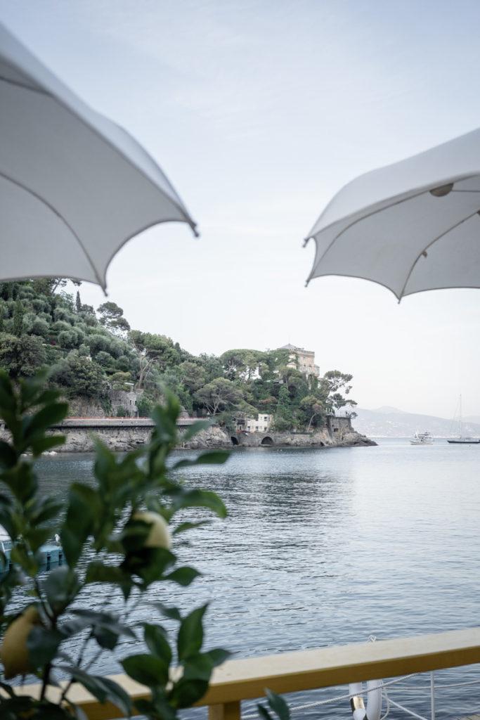 veduta ristorante matrimonio Portofino ricevimento