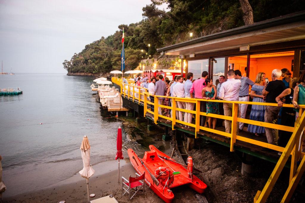 pontile ristorante matrimonio Portofino ricevimento