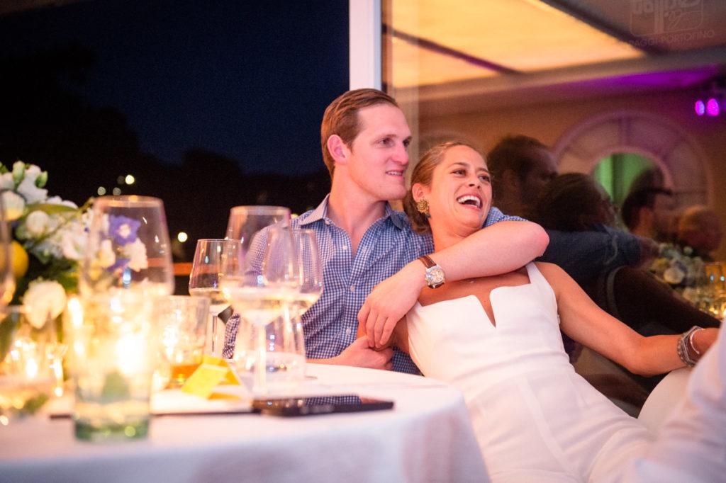 coppia sposi ristorante matrimonio Portofino ricevimento