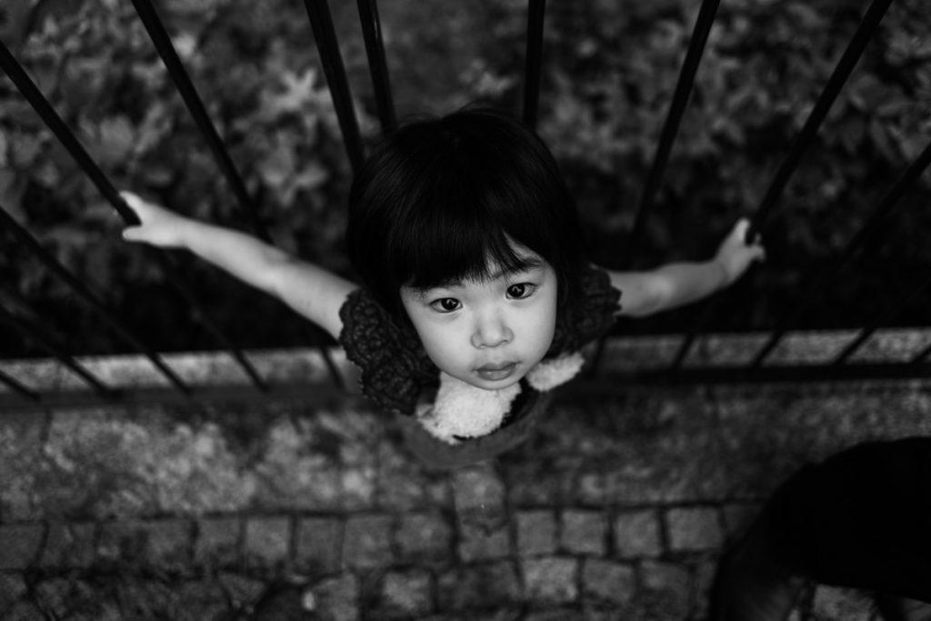 bambina giapponese lago di como