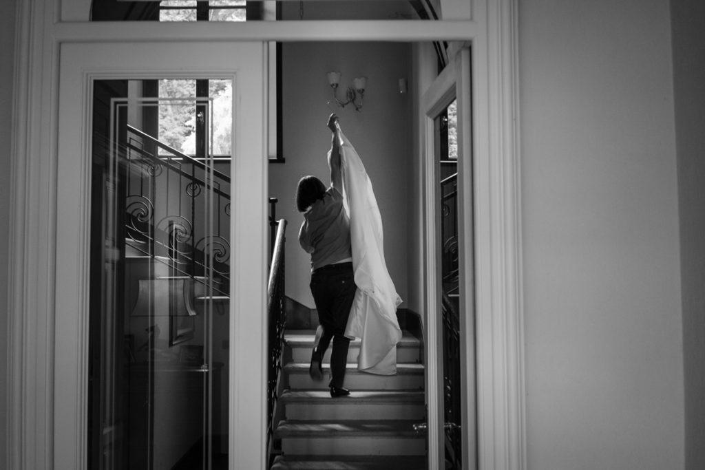 arrivo del vestito della sposa