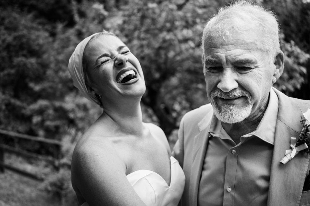 sposa con padre matrimonio