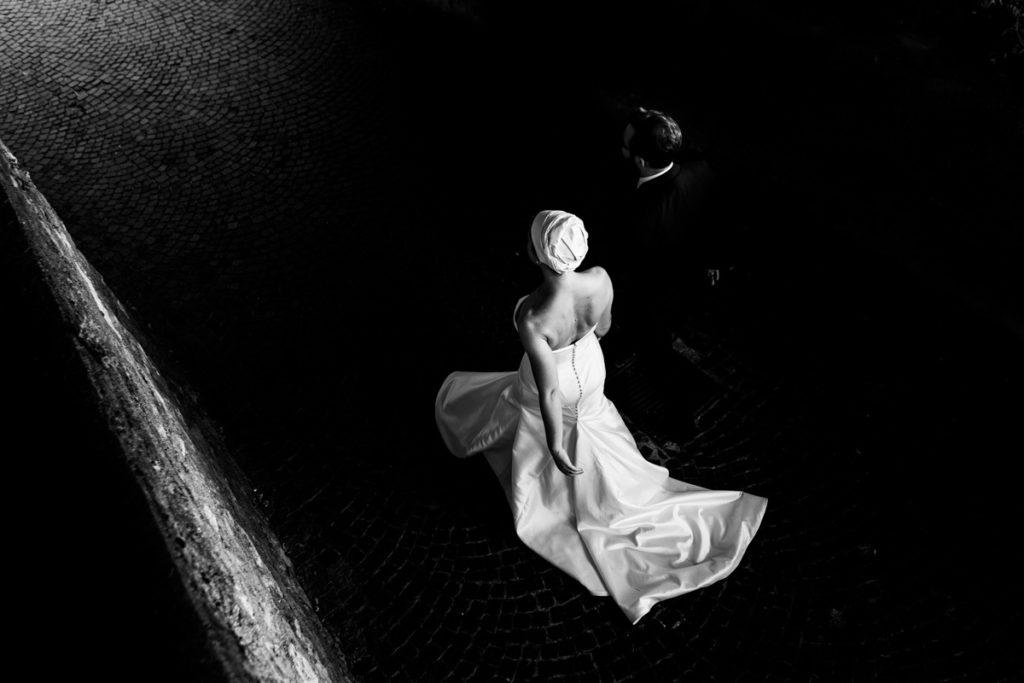 bianco e nero matrimonio lago di como