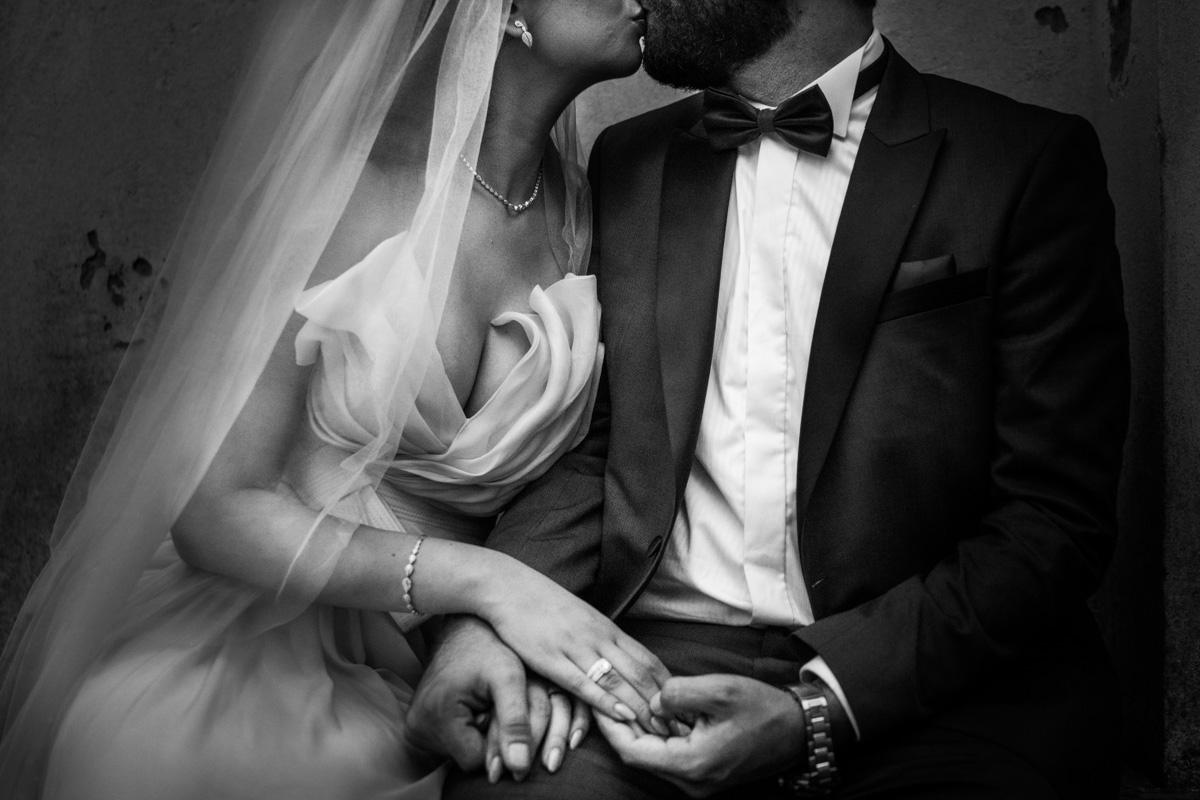 lebanese wedding in Italy bride dress