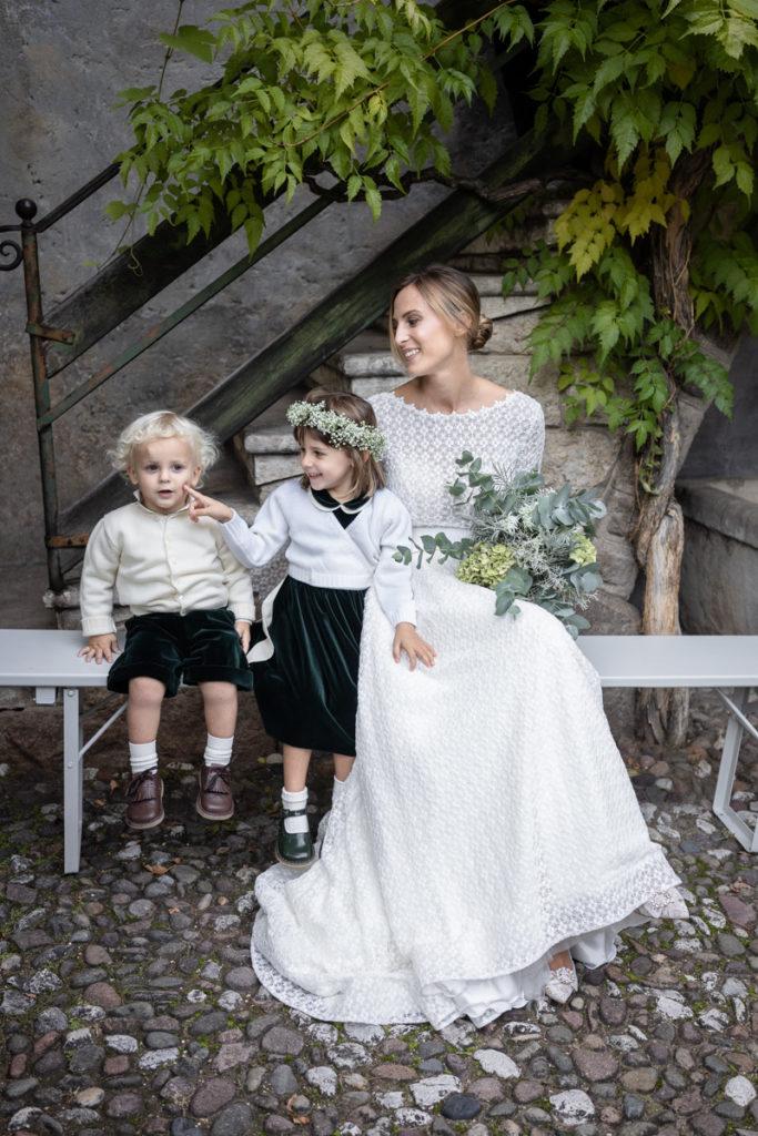 migliore fotografo matrimonio matrimoni Italia Trento bambini lusso elegante vestito sposa Giuliani couture fotografia arte autore top amore bambini fiori bouquet