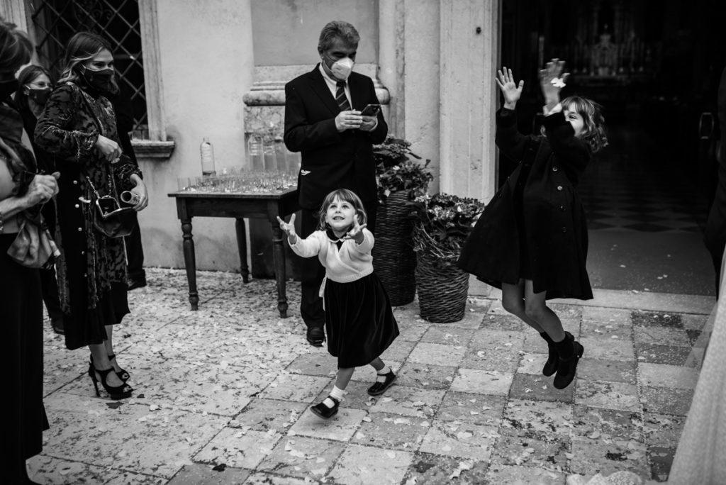wedding Trento Italy Photographer reportage style bride best emotions photography photos top location luxury elegant kids kid Giuliani cerimony kids rice